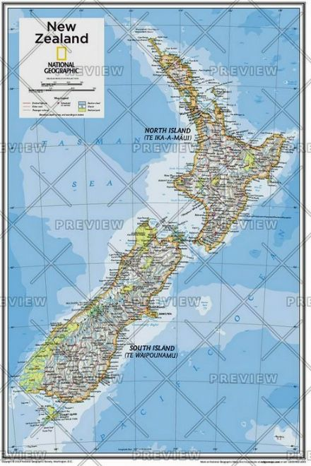 New Zealand - Atlas of the World, 10th Edition 2015 by National Geographic
